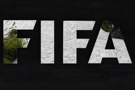 Logo of the FIFA is pictured at the Home of FIFA in Zurich
