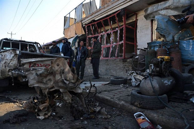 Four civilians were wounded in the early morning attack in Kabul. Credit: SHAH MARAI / AFP