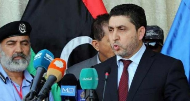"""Khalifa El-Ghwell, the Prime Minister of the Tripoli-Based """"Government of National Salvation"""" in Libya"""