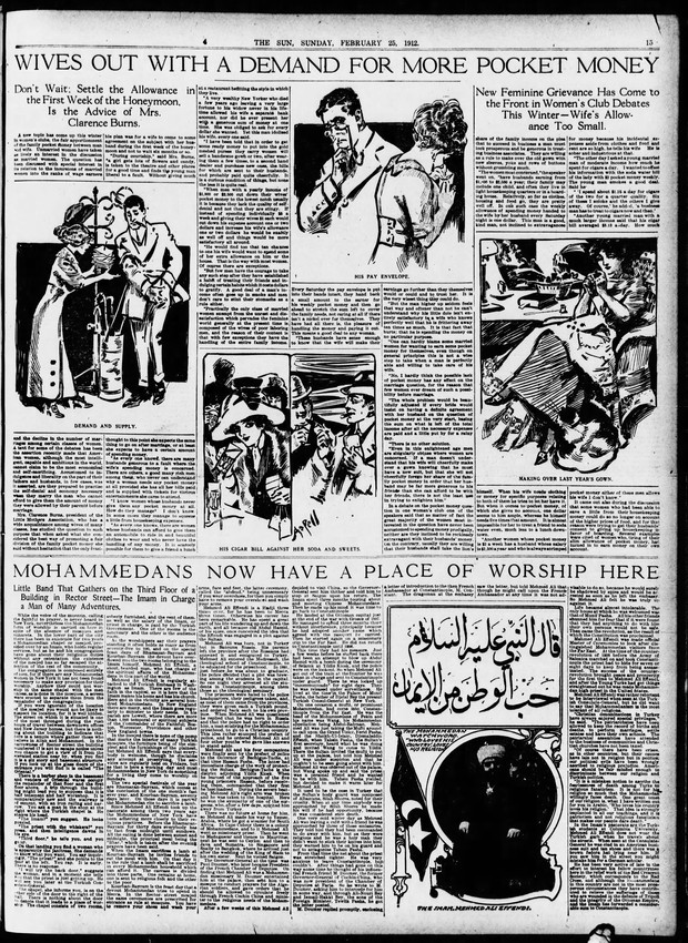 The article in The New York Sun from 25 February 1912