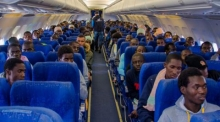 Senegalese migrants departing to Senegal from Libya on 6 January © IOM 2016