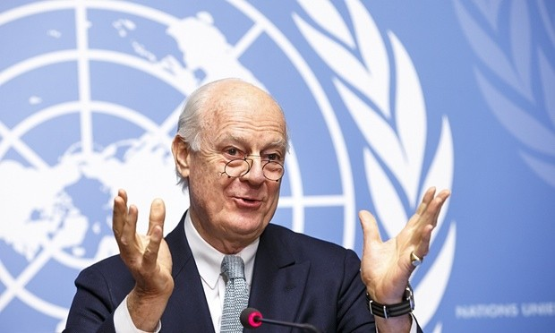 Staffan de Mistura said 'the important thing is to keep up the momentum' at the Geneva talks. Photograph: Salvatore di Nolfi/AP