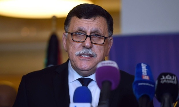 Libyan PM Fayez Sarraj, whose government is the result of more than a year of mediation by the UN. Photograph: AFP/Getty