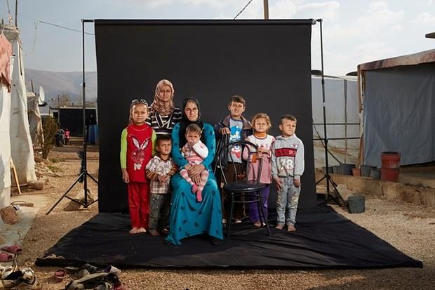 Souraya and her family. Photograph: Dario Mitidieri/Courtesy Cafod