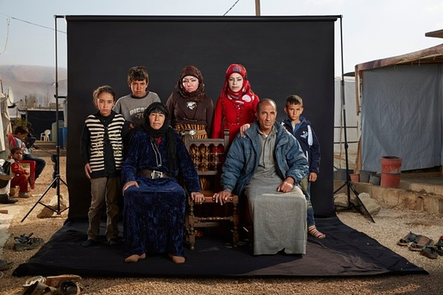 Mohammed and his family. Photograph: Dario Mitidieri/Courtesy Cafod