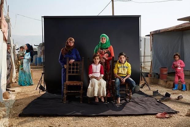 Khawle and her family. Photograph: Dario Mitidieri/Courtesy Cafod