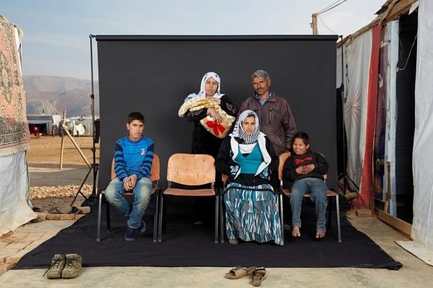 Mohammed's family. Photograph: Dario Mitidieri/Courtesy Cafod