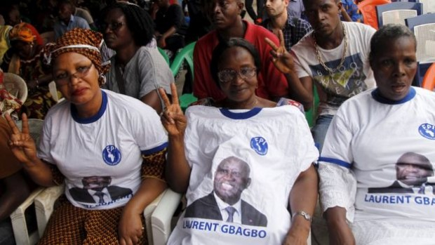 He also continues to have support in Ivory Coast, like here in Abidjan