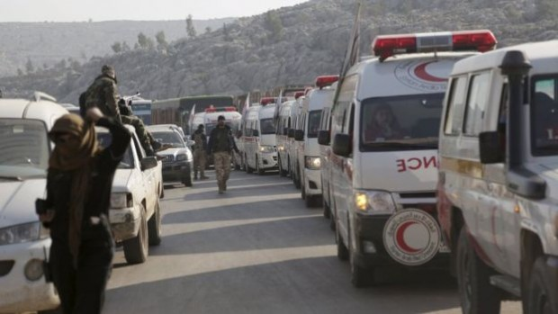 A deal saw wounded fighters and civilians evacuated from Foah and Kefraya last month