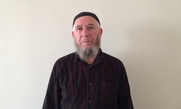Alu Edelgireyev, the father of slain Abdulvakhid Edelgireyev. Photograph: Shaun Walker for the Guardian