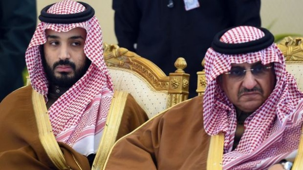 Deputy Crown Prince Mohammed bin Salman (L) is one of those spearheading the current reforms