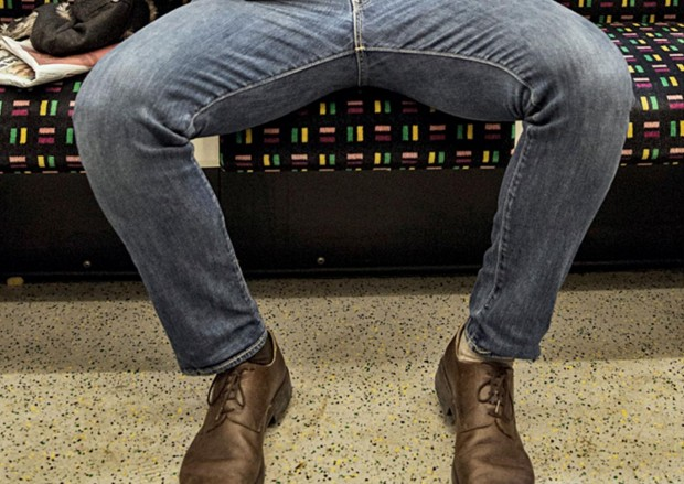An example of manspreading on the London Underground Evening Standard