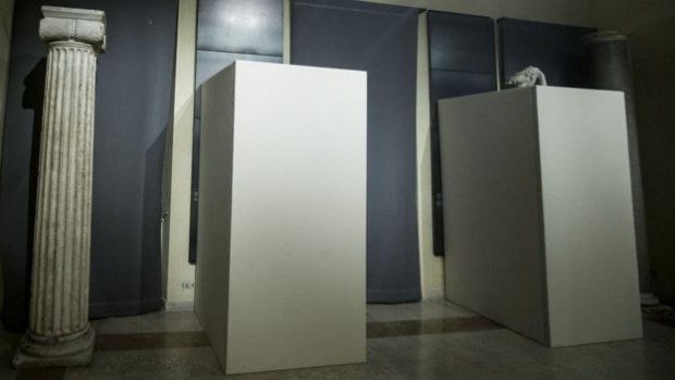 Plywood boxes concealed the nude statues at the museum in Rome