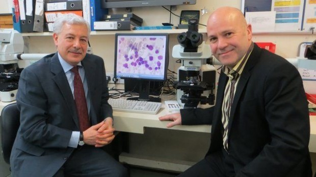 Profs Basil Sharrack (left) & John Snowden - a clinical partnership of neurology and haematology