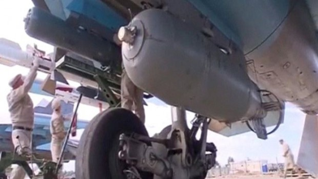 Russian SU-34 fighter bombers are based at Hmeymim airbase in Syria