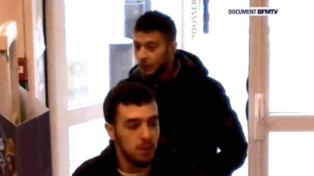 Salah Hamza Attou (L) has since been arrested in Belgium, while Abdeslam is still on the run