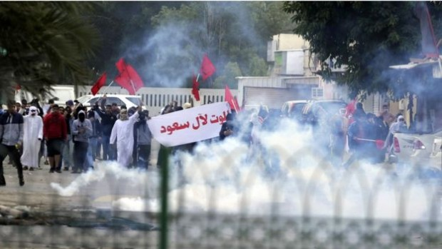 Shia Muslims in Bahrain have staged protests against Saudi Arabia