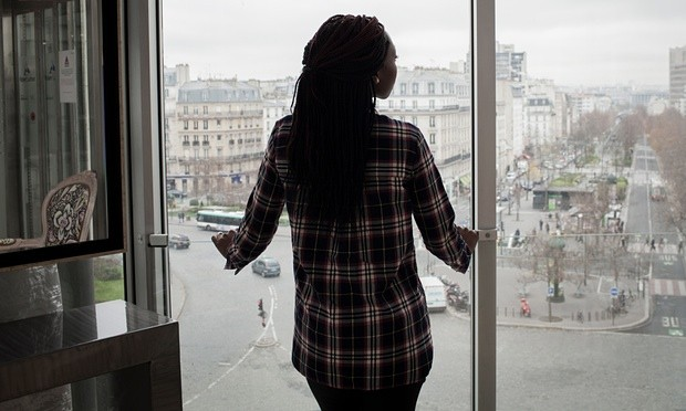 On arriving back in France, Sophie Kasliki was interrogated and jailed for two months. Even now, she protects her identity. Photograph: Viviane Dalles
