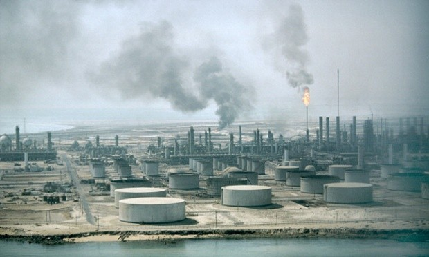 The Aramco oil refinery in Dahran, Saudi Arabia. Analysts believe the world's most valuable business will attract a lot of interest from potential investors. Photograph: MyLoupe/UIG via Getty