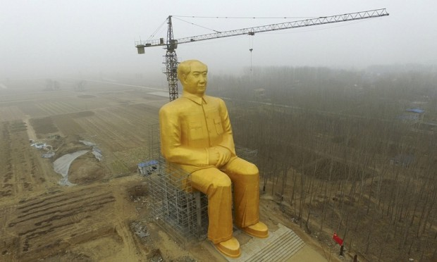 The giant statue of Mao Zedong in Tongxu county in Henan province. Photograph: China Stringer Network/Reuters