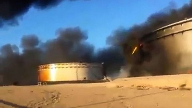 The tanks are believed to hold more than 400,000 barrels of oil