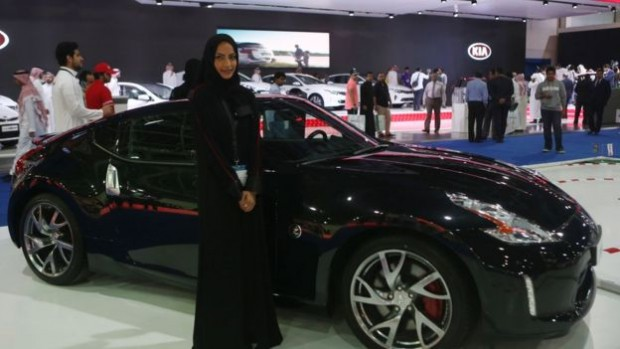 Visitors to Saudi Arabia's car show last month. But domestic energy subsidies have been costing the country up to 10% of its annual GDP