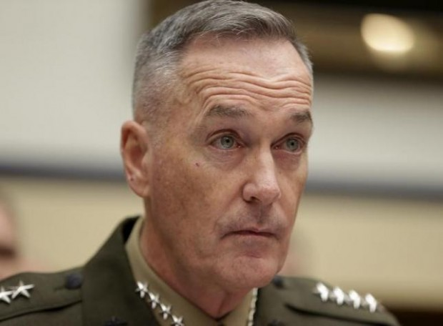 U.S. Joint Chiefs Chairman Marine Corps Gen. Joseph Dunford Jr. testifies before a House Armed Services Committee hearing on ''U.S. Strategy for Syria and Iraq and its Implications for the Region'' in Washington December 1, 2015. REUTERS/GARY CAMERON