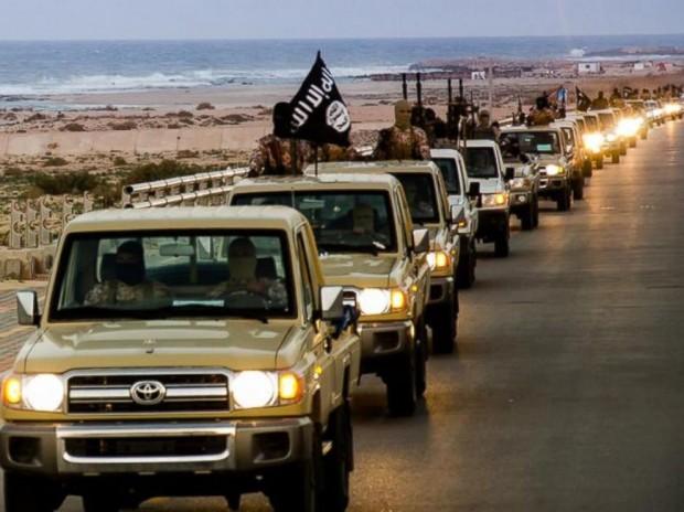 ISIS parade the coastal city of Sirte