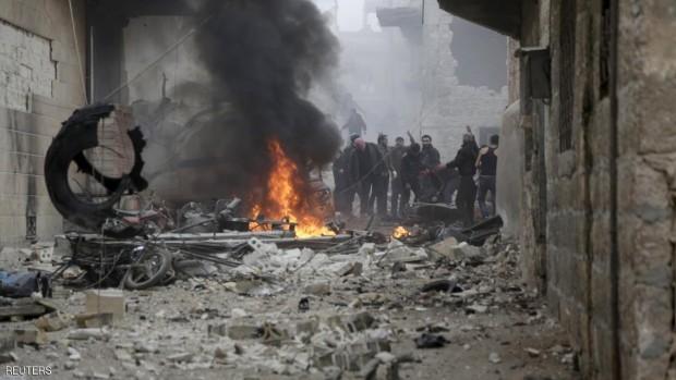المرصد-قال-إن-471-مدنيا-قتلوا-في-غارات-روسية-منذ-مطلع-يناير-620x349