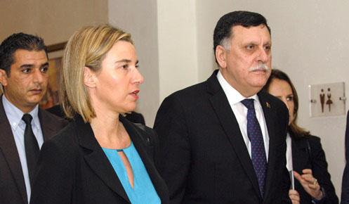 Fredirica Mogherini in Tunis on January, 8 2016