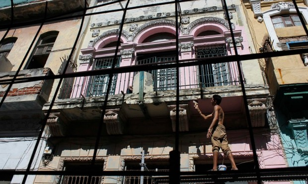 Yet another renovation in Havana's Old Town. Photograph: Reuters