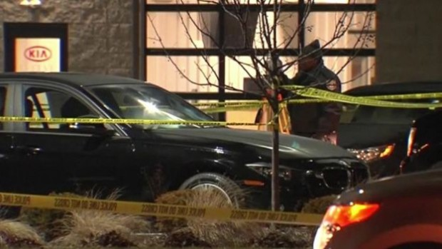 A car dealership was among three shooting locations