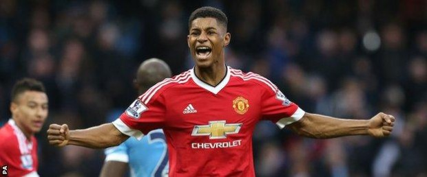 Marcus Rashford followed up his two-goal displays against Midtjylland (in the Europa League) and Arsenal with the winner at the Etihad