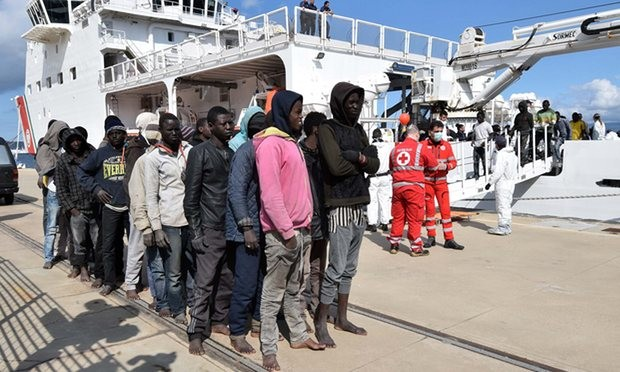 Most of Libya's migrants are not Syrian or Iraqi refugees but people fleeing poverty from all corners of Africa. Photograph: Giovanni Isolino/AFP/Getty Images
