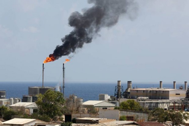 A view of the Zueitina oil installation in Libya in 2013. The installation is one of three Libyan oil ports that have been closed for over a year. The three are set to reopen now that a unity government has arrived in Tripoli, militia leaders guarding the facilities said Thursday. PHOTO: MAHMUD TURKIA/AFP/GETTY IMAGES