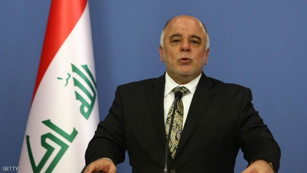 Iraqi Prime Minister Haider al-Abadi speaks duing a press conference with Turkey's Prime Minister (unseen) in Ankara on December 25, 2014. AFP PHOTO / ADEM ALTAN        (Photo credit should read ADEM ALTAN/AFP/Getty Images)