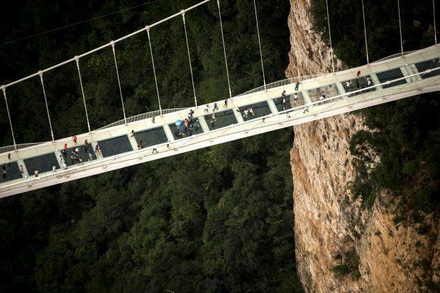 World's longest glass bridge closed