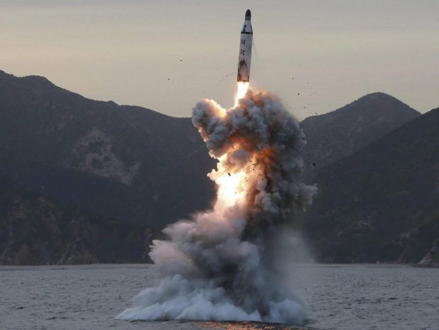 South Korea test fires 800km-range missile