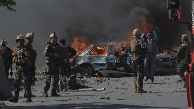 Bombing in diplomatic area of Kabul kills 64, wounds scores