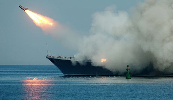 Russian warships in Mediterranean hit IS positions in Syria