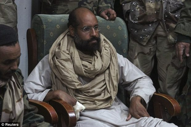 Gaddafi's son released after more than five years of detention