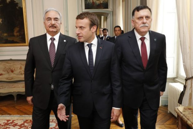 Rival Libyan leaders back ceasefire, elections at France talks
