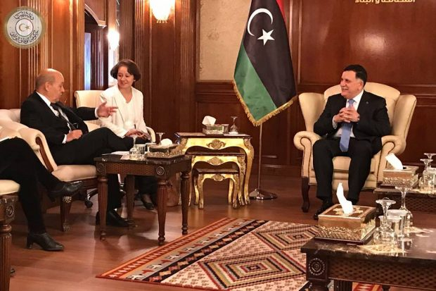 French foreign minister visits Libya in bid to advance peace deal