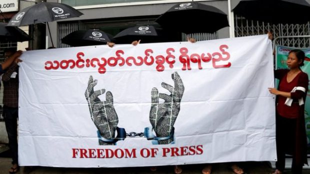 Myanmar says 2 Reuters journalists arrested over documents