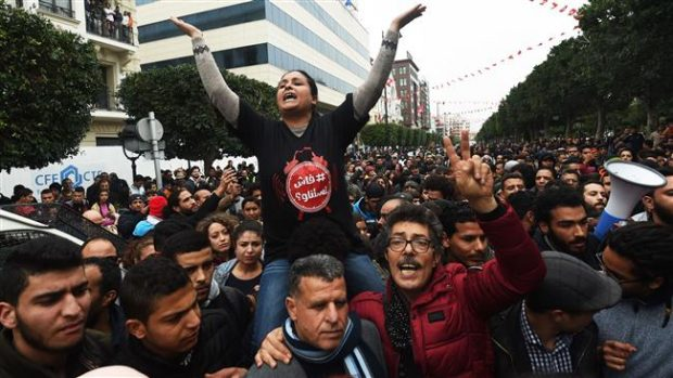Tunisia protesters arrested in clashes this week