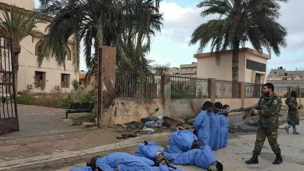Twin auto bombs kill dozens outside Benghazi, Libya, mosque