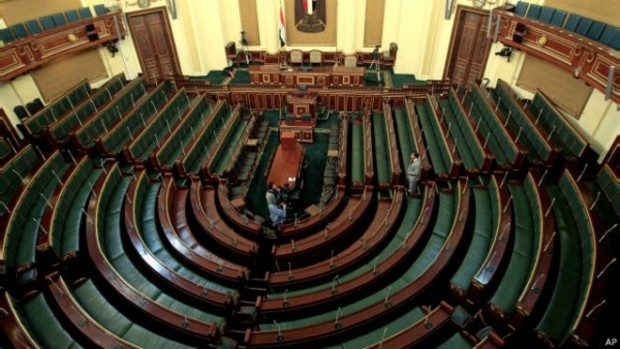 Egypt parliament headquarters. (BBC)