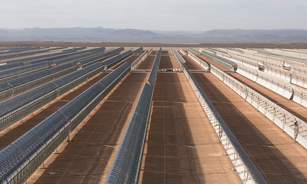 The Ouarzazate project in Morocco aims to create 2,000 megawatts of solar generation capacity by the year 2020 and provide 38% of the country's annual electricity generation.
