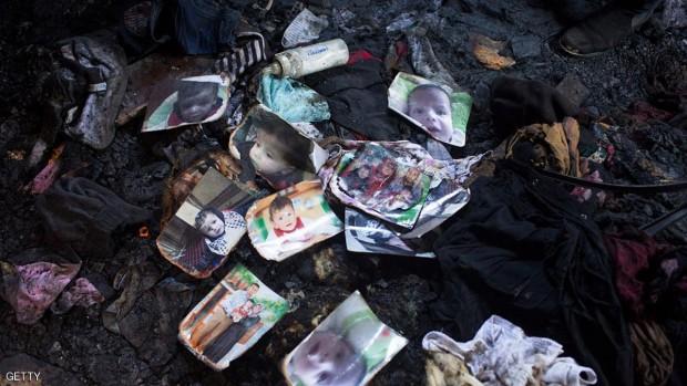 أحرق المستوطنون أفراد العائلة عندمأ ألقوا قنابل حارقة داخل منزلهم وهم نيام