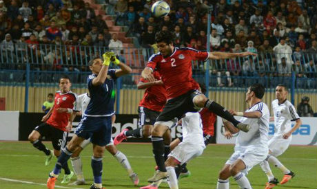 Ali Gabr opened the scoring for Egypt in the first half (Photo: Ahram)